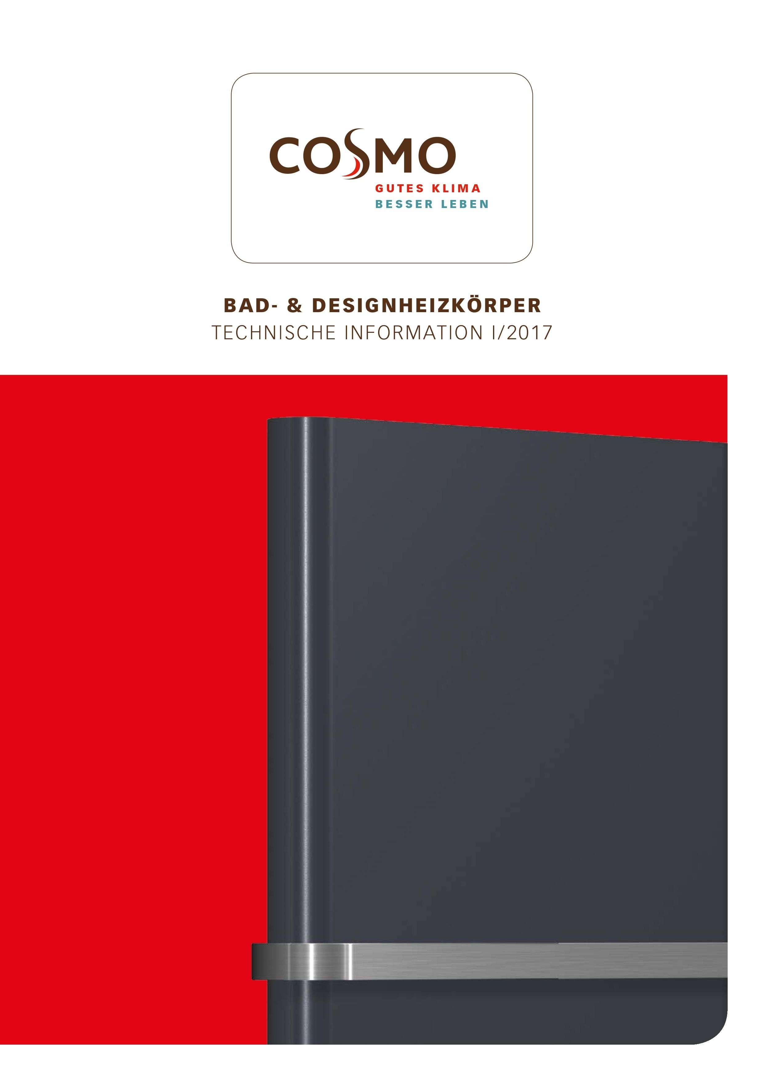 cosmo technik bad designheizk rper 2017. Black Bedroom Furniture Sets. Home Design Ideas